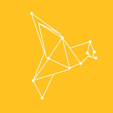 white bird on yellow square